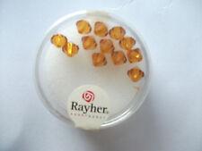 Rayher Swarovski Kristall-Schliffperlen 12 Stück 6 mm koralle Bastelperlen