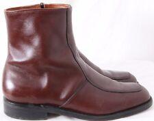 E.T. Wright 601021 USA Zip Dress Stitched Apron Toe Ankle Boots Men's US 9B