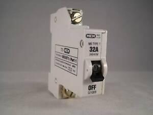 MEM MCB Type 1 32 Amp M6 Single Pole 32A Circuit Breaker Memera 21 321QB 321QEB