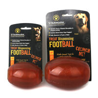 Starmark Design-Treat Dispensing Football Rubber Toys for Dog Puppy 2 Size
