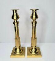 "Vintage 11"" Brass Candlesticks Pair B. Altman & Co Hollywood Regency Set 2 Japan"