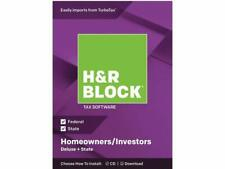 H&R Block Tax Software Deluxe + State 2018 PC/MAC CD