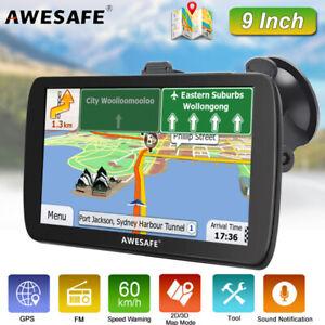 "9""AWESAFE Portable GPS Navigation Truck Navigator with Free Australia Map 2020"