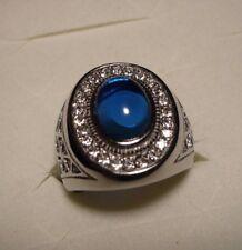 MENS Blue Sapphire & Diamond Ring Sz.10 24gems(man made) 5.64tcw MSRP$123.44