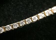 14K Yellow Gold & Diamond Tennis Bracelet 3 CTW 11.2 Gram 7 Inches