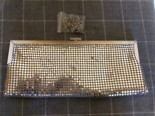 Silver Diamante And Sequin Clutch Evening Prom Bag