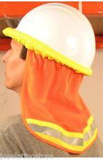 "ERB Hi Viz ""ORANGE"" Mesh Neck Shade Fits ALL Hard Hats ""Stay Cool"" FAST Ship"