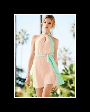 VICTORIA`S SECRET!!! COLORBLOCK HALTER   DRESS SZ:XL
