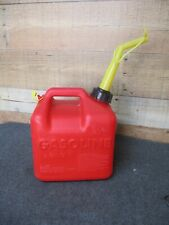 Chilton 2 gal Plastic Gas Fuel Can w/ Old Style Spout & End Cap