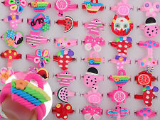 10/20 pcs Wholesale Lots Jewelry Mixed Children Polymer Clay Rings Free Shipping