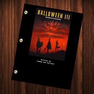 Halloween III Season Of The Witch Movie Script Reprint Full Screenplay