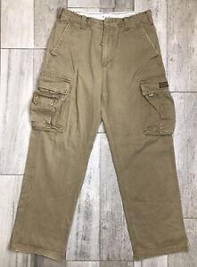 Aeropostale Cargo Pants Mens Size 33x34 Rugged Utility Work Hiking Flap Pockets