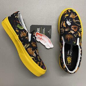 Vans National Geographic Slip On Classic Shoe Sneaker Animals Black Yellow Kids