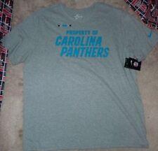 NEW NFL Carolina Panthers Football T Shirt Men 2XL XXL Grey Gray NIKE NEW NWT