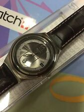 Swatch IRONY YGS453 Scene Libre 2008 New Box brown leather pink hand beautiful