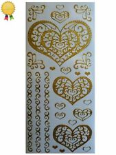 Gold Shapes Scrapbooking Stickers