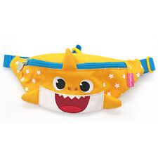 Baby Shark Face Shaped MIni Pouch Bag HIp Sack Fanny Pack Belt Kids Yellow