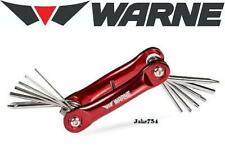 Warne Range Tool Chrome-Vanadium Steel Bits Aluminum Handle Red Finish # Rt-1