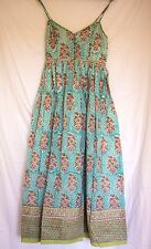 Anokhi Dress Vintage Style Boho Chic Gypsy Hand Block Print Indian Cotton
