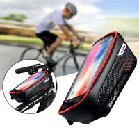 Bicycle Waterproof Phone Holder Case Bag Cycling Bike MTB Front Top Tube Frame