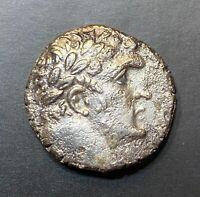 ANCIENT GREEK BIBLICAL COIN; SILVER TYRE SHEKEL 53 AD! YEAR 180 - JERUSALEM