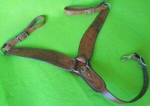 QUALITY HEAVYDUTY Wide Double Stitch Skirt Leather Roper Ranch BREAST COLLAR~NR