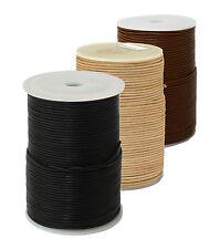 Preisaktion 3 x 100m Lederband in 3 Farben 1mm braun natur schwarz  Lederschnur