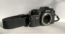 KONICA FP-1 PROGRAM 35MM SLR BLACK CAMERA BODY ONLY FOR PARTS OR REPAIR.