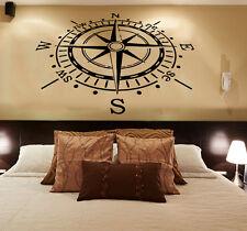 Wall Decals Rose Compass Vinyl Sticker Nautical Decal Living Room Decor KG784