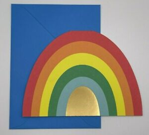 Hallmark Blank Notecards ~ Bold Rainbow Die-Cut Cards ~ Qty 15 w/Envelopes
