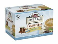 Grove Square Cappuccino, French Vanilla, 12 Single Serve Cups (Pack of 2)