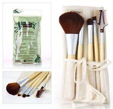 EcoTools Bamboo Makeup Brush Set 6pcs Blush Eyeshadow Make Up Brushes 5 + 1 Bag