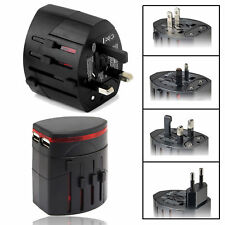 World Wide Universal Travel Adapter Multi Plug Charger with Dual 2 USB Ports AU