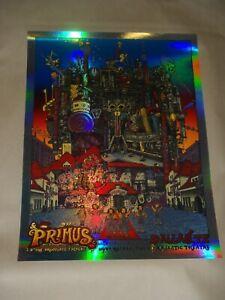 David Welker Primus Foil signed concert poster screen print art Dallas 2014