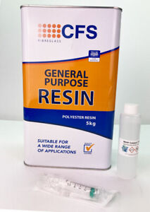 Fibreglass 5kg  Polyester Resin CFS LLOYDS Marine Grade  - Sent Next Day
