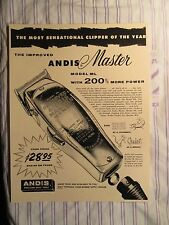 """Vintage Barbershop Andis Master """"Clipper Of The Year"""" $28.95 Sign Ad"""