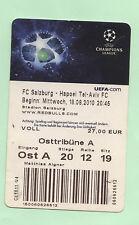 Orig.Ticket    Champ.League  10/11   FC RED BULL SALZBURG - HAPOEL TEL AVIV  !!
