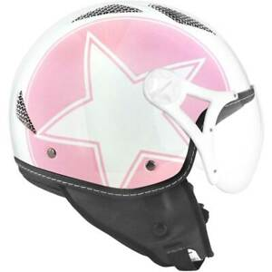 Helmet Jet TNT Pink/Glossy White Helios Star L SB13B