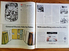 1970 GE General Electric Refrigerator Ad Side by Sides the Americana