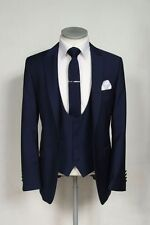 Navy Blue Groom Tuxedos Wedding Men Suits Formal Best Man Party Business Suit