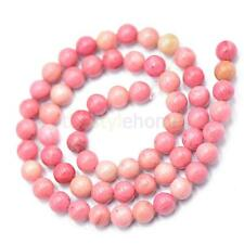 "Round Argentina Rhodochrosite Gemstone Beads Jewelry Making Strand 15"" x 6mm"
