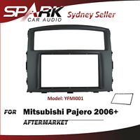 SP Double DIN Facia Kit Fascia Dash Plate Panel For Mitsubishi Pajero 2006+