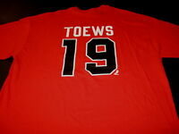 JONATHAN TOEWS Chicago Blackhawks #19 Red NHL Hockey JERSEY T-Shirt New Adult XL