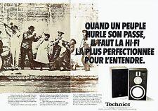 PUBLICITE ADVERTISING 027  1980   Technics (2p)  hi-fi  enceintes SB10