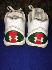 Under Armour Micro G Mens Sneakers Tennis Shoes Sz 10/44 White Red Green