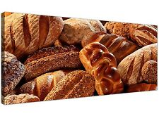 Large Brown Food Kitchen Canvas Wall Art of Bread