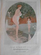1910 Original Print Contravention ( femme nue ) dessin de Cardona
