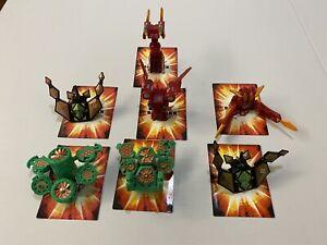 SpinMasters Bakugan Lot of 7 Figures - Battle Gear