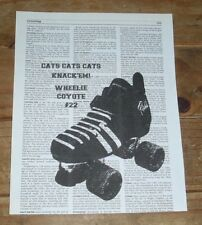 UNMOUNTED Roller Derby Quad Skate Print with CUSTOM message Recycled Dictionary