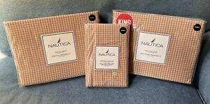 Nautica Pink Sands King Sheet Set NEW
